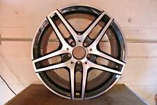 """1 x Originale Mercedes Classe e 18 """""""" Cerchio in Lega AMG Posteriore Nero Notte"""