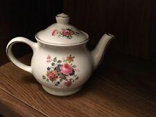 Sadler Windsor Floral small teapot England-Gold trim
