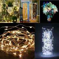 2M 20 LEDs Battery Operated Mini LED Copper Wire String Fairy Lights