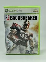 Backbreaker (Microsoft Xbox 360, 2010) W/ MANUAL COMPLETE CIB FREE SHIP TESTED