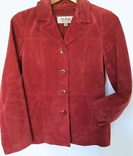 WOMENS WILSONS LEATHER Maxima SUEDE Jacket MEDIUM M Salmon Cinnamon Rose FITTED