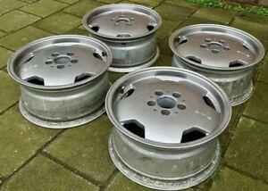 Set 4 Genuine Mercedes AMG Mono areo 1 Alloys Wheels W201 190E W124 monoblock OZ