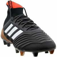 adidas Predator 18.1 Firm Ground  Casual Soccer  Cleats - Black - Mens