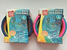 LOT OF 2 PACKS  Play Day Dizzy Diving Rings 6 Pcs Flexible Diving Masters