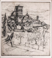 "Ernest David Roth N.A. (German American,18791964) ""San Rufino, Assisi"" ETCHING"