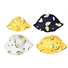Women Avocado Bucket Hat Men Outdoor Fishing Caps Child Panama Hat Sun CaK.f'