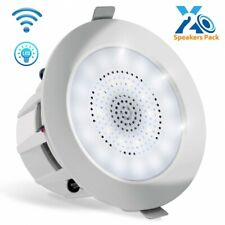 4'' Bluetooth Ceiling/Wall Speakers, 2-Way 2 Speakers with Built-in LED Light