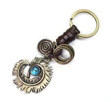 AuPra Blue Dream Eye Keyring  | Leather Keychain | Key Ring Pendant Gifts