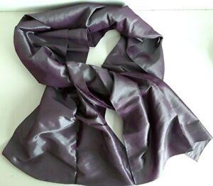 Silky Taffeta Purple Evening Pashmina Style Shawl Wrap