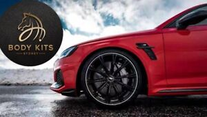 Audi ABT Carbon Fiber Side Badges Emblem For SQ5 S5 RS5 A7 S7 RS7