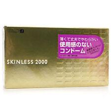 12Pcs OKAMOTO Skinless 2000 Sensitive Ultra Thin Odorless Lubricated Condom Pack