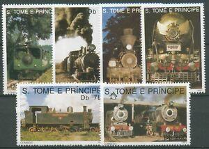 Sao Tomé und Príncipe 1991 Eisenbahn Lokomotiven 1238/43 postfrisch