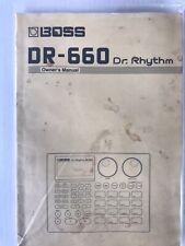 Boss DR-660 Dr. Rhythm Owner's Manual Original 1993