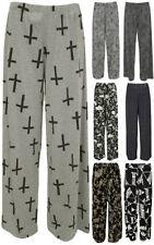 Pantaloni da donna, taglia comoda grigio medio