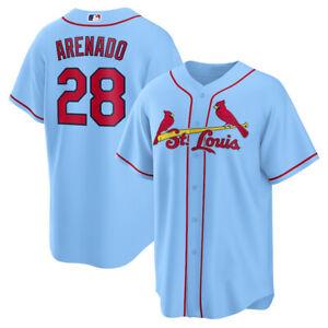 Men's St. Louis Cardinals Nolan Arenado Light Blue Player Baseball Jersey