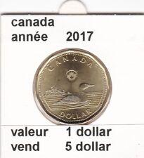 C 1 )pieces de 1 dollar  canada de 2017