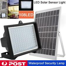 108 LED Solar Power Panel Floodlight Night Light Sensor Garden Lamp Outdoor 10W