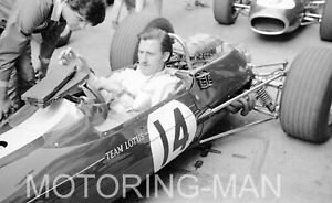 GRAHAM HILL LOTUS BRM 33 PHOTOGRAPH FOTO MONACO GRAND PRIX 1967
