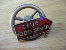 MILLE MIGLIA CLUB 1000 MIGLIA LAPEL PIN NEW ALFA  FERRARI MG JAGUAR MERCEDES AC