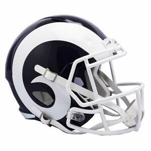 LA RAMS WHITE Riddell Speed NFL Full Size Replica Football Helmet