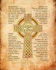 Bible Scripture Picture Full Armor of GOD (8X10) New Fine Art Print Verse Jesus