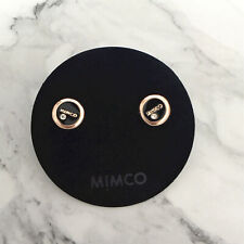 GENUINE Mimco FACET STUD earrings BLACK ROSE GOLD Toned Earring BNWT studs