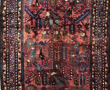 Terrific Tribal - 1940s Antique Oriental Rug - Nomadic Carpet - 5 x 9.10 ft.