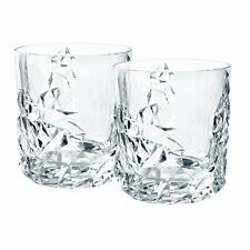 Nachtmann Sculpture Crystal Whisky Tumblers DOF , Set of 2  91901