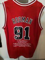 Dennis Rodman Chicago Bulls Adidas Jersey HOF Signed Autographed COA 5 / 10 Made
