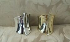 Halloween Cleopatra Wide Band Cuff Bracelet Costume Jewelry Gold or Silver Tone