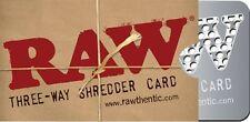 HERB GRINDER, RAW THREE WAY SHREDDER CARD 8,5 X 5 CM! Rolling Papers Pocket NEW