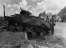 WW2 Photo WWII  Destroyed Japanese Tank on Saipan 1944 World War Two  / 4126