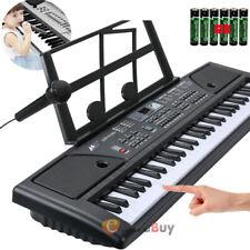 61Key Digital Electric Piano Keyboard Portable W/Microphone Stand Kids Gift LCD