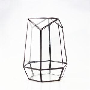 Creative Flowerpot Tabletop Geometric Terrarium Succulent Pot Planter with Cover
