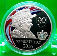 QUEEN ELIZABETH II 90TH BIRTHDAY COMMEMORATIVE COIN PROOF VALUE $89.95