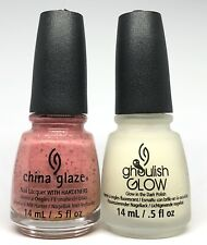china glaze nail polish Don't Let The Dead Bite 1335 + Ghoulish Glow 1283