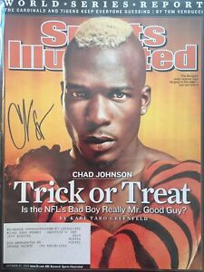 Chad Johnson Signed Sports Illustrated 10/30/06 Issue Cincinnati Bengals NFL