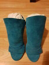 Carlos Stiletto High Heels Torquise/Green Size UK 6.5 Shoe