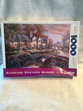 Running springs manor 1000 PIECE PUZZLE BY SPILSBURY PUZZLE CO Carl Valente NEW!