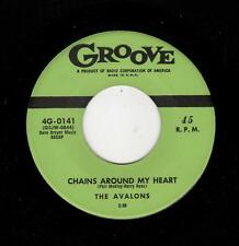 RARE DOOWOP-AVALONS-GROOVE 141-CHAINS AROUND MY HEART/OOH! SHE FLEW