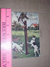 Cat Kitten Baby dog hunting up tree farm country alley tom Happy days 1908 hound
