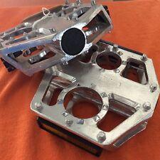 9/16'' Aluminium Pedals MTB/ Road/ Hybrid/ BMX Silver Flat Cage Platform CK-716