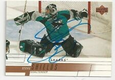 00/01 Upper Deck Autographed Hockey Card Steve Shields San Jose Sharks