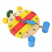 Wooden Educational Toys Children Clock Toy Kids Puzzle Blocks Baby Learn Time
