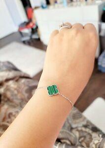 Van cleef bracelet 925 sterling silver with real stone