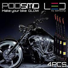 White Motorcycle LED Lighting Strips Kit Engine-Bay Flexible Bright 12V Powered