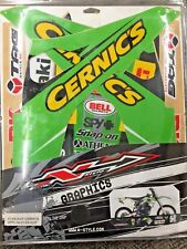 06-08 Kawasaki KX250f CERNIC'S Graphics Kit With Seat Cover Nstyle