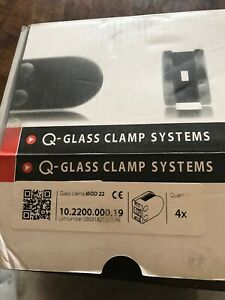 Q-railing Glass Clamp MOD 22 10.2200.000.19 Box Of 4 Stainless Steel