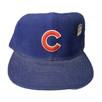 Vintage Chicago Cubs Baseball Hat Fitted 7 5/8 New Era Wool Diamond Collection