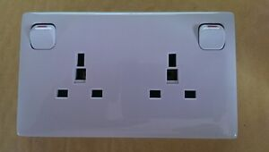 Single 1 Gang to Double/Twin 2 Gang Converter Socket Outlet